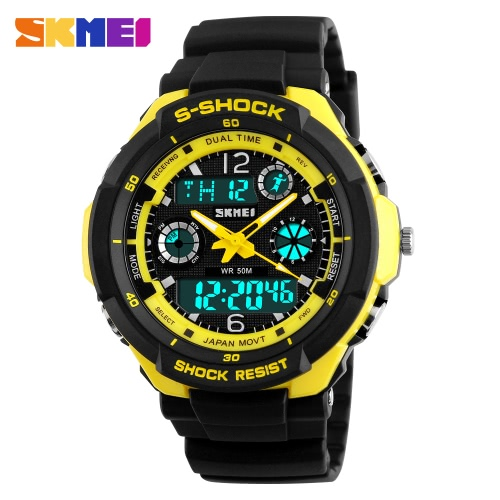 SKMEI 5ATM Water Resistant Dual Time Fashion Men LCD Digital Stopwatch Chronograph Date Alarm Casual Sports Wrist Watch 2 Time ZoneSports watch<br>SKMEI 5ATM Water Resistant Dual Time Fashion Men LCD Digital Stopwatch Chronograph Date Alarm Casual Sports Wrist Watch 2 Time Zone<br><br>Blade Length: 14.0cm