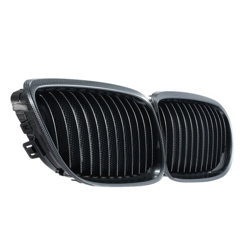 One Pair of Carbon Fiber Car Front Grille Decoration Grilles for BMW E90 2009-2012 от Tomtop.com INT