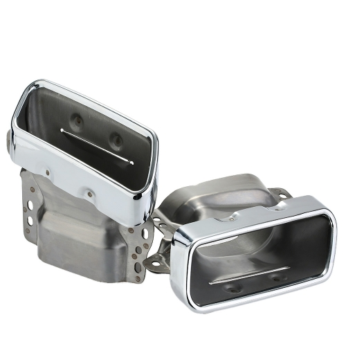 Pair of Car Stainless Steel Exhaust Tail Pipes Muffler Tips for Benz S300/350/600 GL350/400/450 2007-2012 от Tomtop.com INT