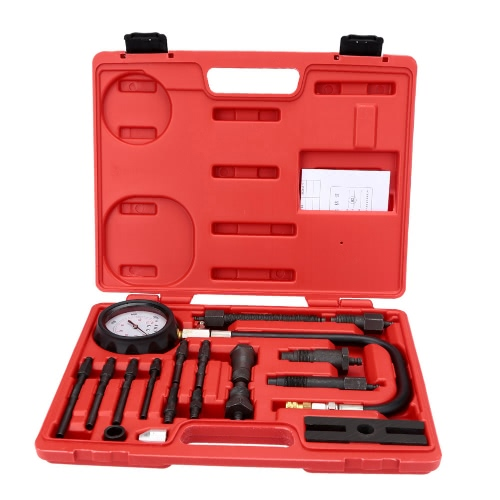 Buy Cylinder Pressure Meter Diesel Engine Compression Tester Gauge Set 0-1000psi