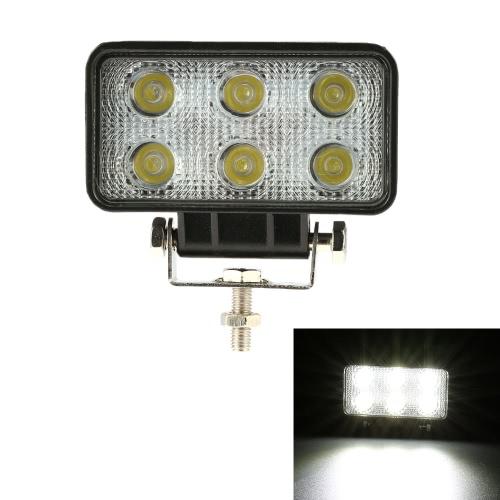 KKMOON 18W LED Car Work Light Bar 4.3 Inch 1350LM Spot Beam for Jeep Offroad ATV Truck SUV 12V 24V от Tomtop.com INT