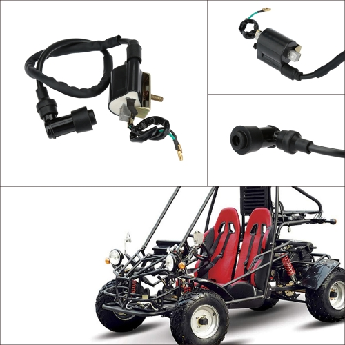 Ignition Coil 110cc 125cc Spark Plug Lead for Chinese ATV Quad Bike Go kart Buggy Dirt Pit K3653