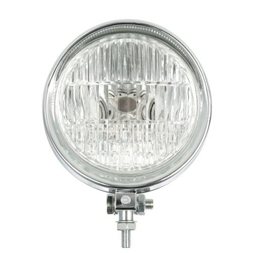 Motorcycle Chrome Headlight 6inch 12V Round LED Light Headlamp