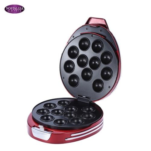 Nostalgia RCPM900 50s-Style Household Mini Electric Cake Pop & Donut Hole Maker Machine Baker KB0023