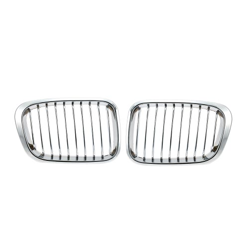 One Pair Plated Chrome Silver Front Grille Grilles for BMW E46 4 Door 98-01Grilles<br>One Pair Plated Chrome Silver Front Grille Grilles for BMW E46 4 Door 98-01<br><br>Blade Length: 35.0cm