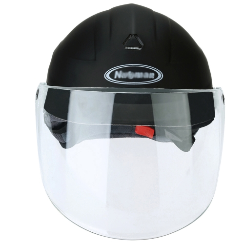Half Face Motorcycle Racing Helmet Cycling Riding Protective Helmet with Detachable Neck Warmer K3554
