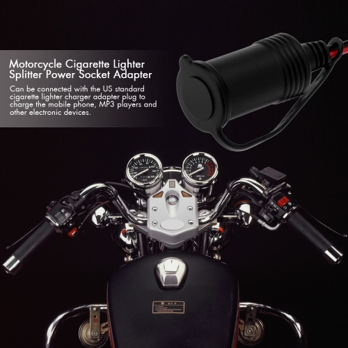 Motorcycle Cigarette Lighter Splitter Power Socket Adapter Outlet 12V от Tomtop.com INT