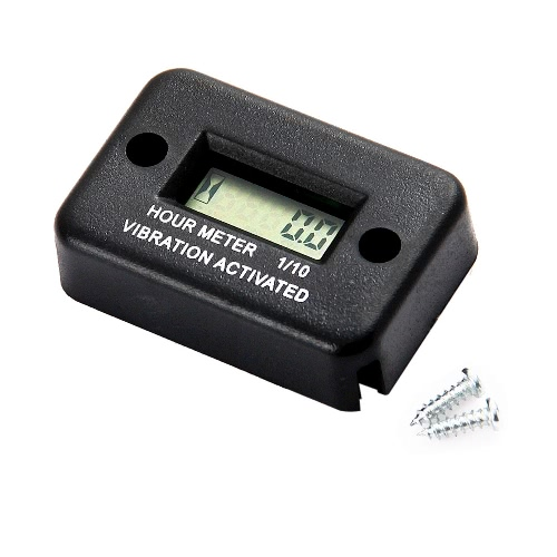Vibration Hour Meter for Motorcycle ATV Snowmobile Boat Waterproof K3676
