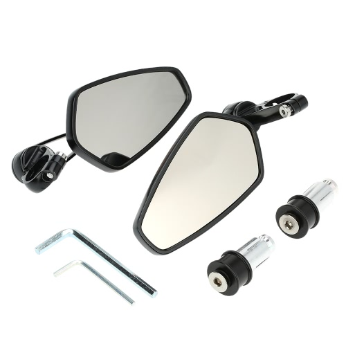 "Pair of Motorcycle Universal 7/8"" Handle Bar End Rearview Mirror CNC Aluminum 360° Rotation Bracket Side View Mirrors от Tomtop.com INT"