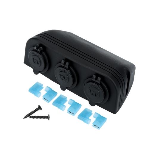 Car Cigarette Lighter Power Socket Splitter Power Charger Adapter Outlet 3 Ports 12-24V K3758