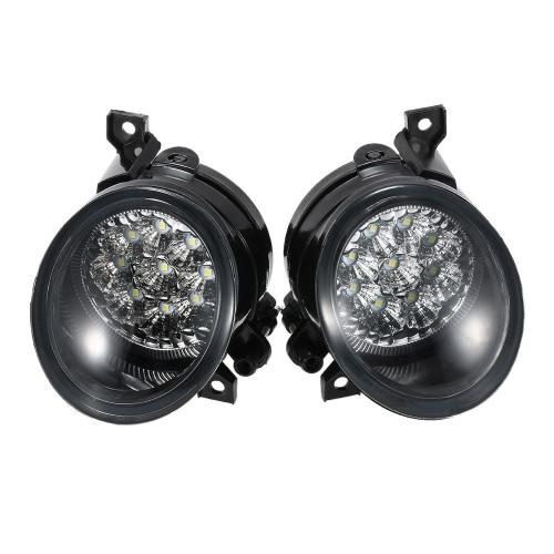 Buy Pair 9 LED Fog Light Bright White Lamp Left & Right VW GOLF GTI MK5 JETTA 2005-2009