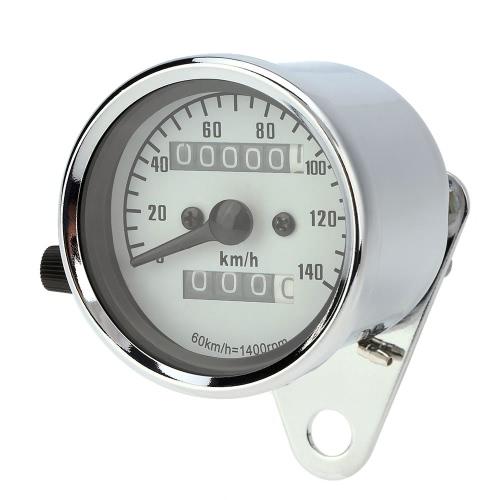 13000 RPM Tachometer Speedometer Dual Odometer Gauge With Black Bracket Universal for Motorcycle K4228