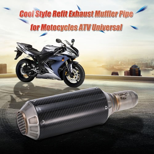 51mm Universal Motorcycle Exhaust Muffler Pipe for ATV Super Cool Frosted Surface + Carbon Fiber Cover + Net Tail51mm Universal Motorcycle Exhaust Muffler Pipe for ATV Super Cool Frosted Surface + Carbon Fiber Cover + Net Tail<br><br>Blade Length: 40.0cm