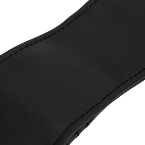 Car Auto DIY Black Leather Steering Wheel Cover Wrap Sew-on Kit 38CM with Needle and Thread от tomtop.com INT