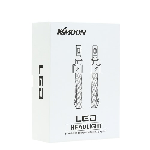 KKMOON 1 Pair of 30W 3200LM 9006 COB Chip LED Headlight Fog Light 12V 24V Car Upgrade Replacement Bulb Beam Kit 6000K White от Tomtop.com INT