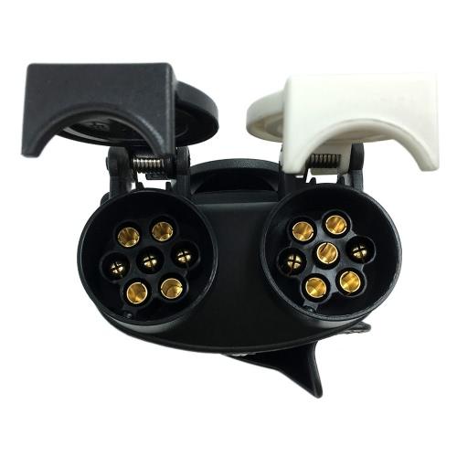 Tirol 13Pin Plug to 7Pin Socket N/S Type Trailer Plug Socket 12VTirol 13Pin Plug to 7Pin Socket N/S Type Trailer Plug Socket 12V<br><br>Blade Length: 25.0cm