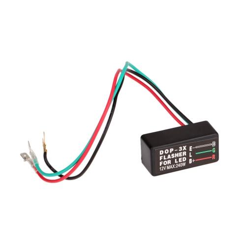 Universal Motorcycle LED Halogen Turn Signal Light Flasher Relay Blinker 3 Pin