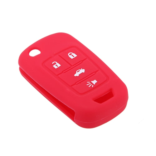 Silicone Car Remote Fob Key Case Cover for Fr New Regal New Lacrosse 4 Button от Tomtop.com INT