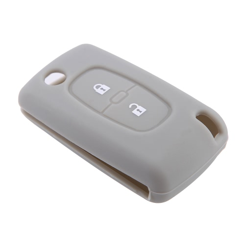 Silicone Cover for Peugeot 307 407 207 107 Remote Key Case Fob 2 Button от Tomtop.com INT