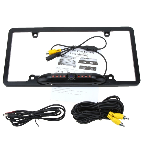 Buy 8 LED Car 1/4 CMOS 480TVL Waterproof License Plate Frame Rearview HD Camera Night Vision Back Parking Viewer US