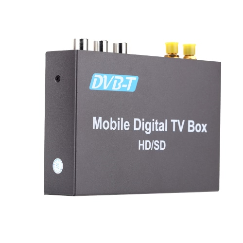 DVB-T Mini Various Channel Mobile Car Digital TV Box Analog TV Tuner High Speed 240km/h Strong Signal Receiver with 2 Antenna от tomtop.com INT