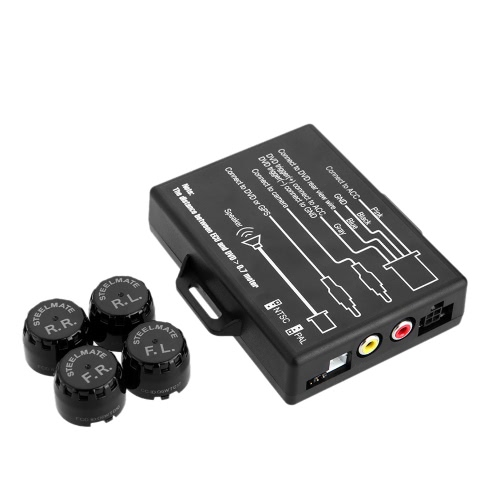 Buy Steelmate TP-05E DIY TPMS In-dash A/V Monitor External Sensor Car Tire Pressure Monitoring System Video Output GPS