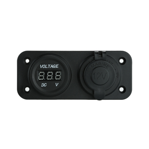 Car Motorcycle LED Digital Display Voltmeter Meter with Cigarette Lighter Power Socket for Car Truck Motorcycle Boat for ATV от Tomtop.com INT