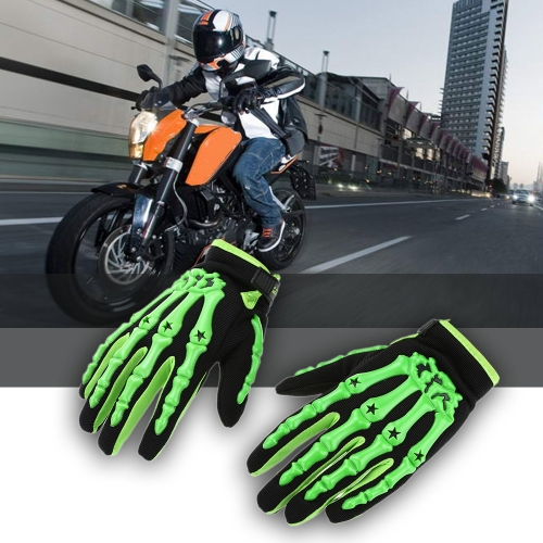 Pro-biker Full Finger Motorcycle Cycling Racing Riding Protective Gloves M L XL K2894GR-M