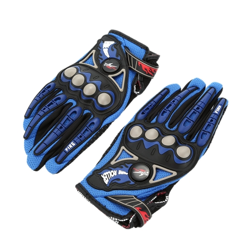 Pro-biker Full Finger Motorcycle Cycling Racing Riding Protective Gloves M L XL-TOMTOP K2896BL-M