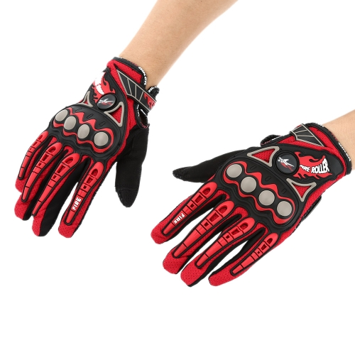 Pro-biker Full Finger Motorcycle Cycling Racing Riding Protective Gloves M L XL-TOMTOP K2896R-M