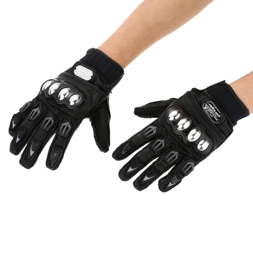 Pro-biker Full Finger Motorcycle Cycling Racing Riding Protective Gloves-TOMTOP K2899M