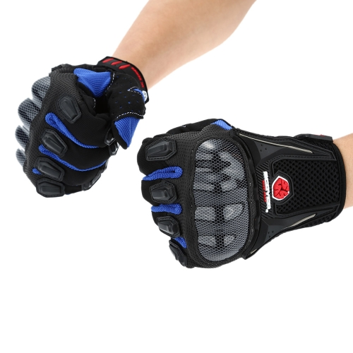 Scoyco MC09 Full Finger Carbon Safety Motorcycle Cycling Racing Riding Protective Gloves K2901BL-L