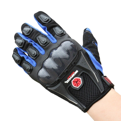 Scoyco MC09 Full Finger Carbon Safety Motorcycle Cycling Racing Riding Protective Gloves от Tomtop.com INT