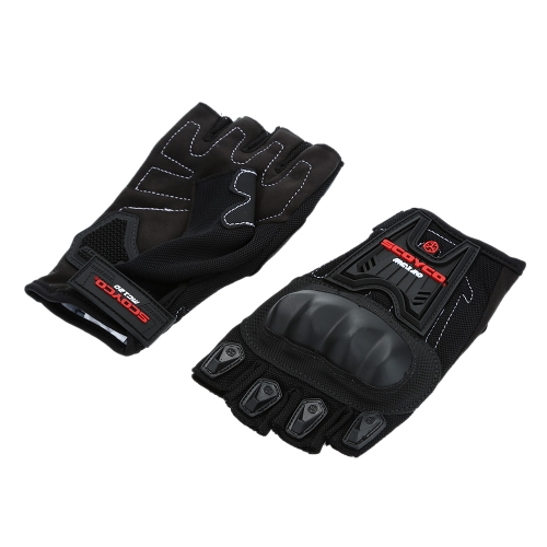 Scoyco MC12D Half Finger Carbon Safety Motorcycle Cycling Racing Riding Protective Gloves K2906L