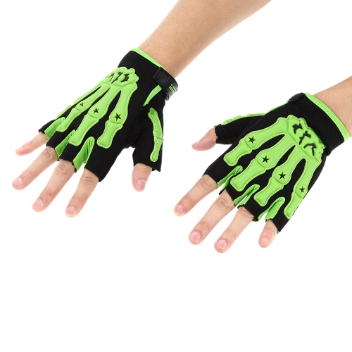 Pro-biker Half Finger Motorcycle Cycling Racing Riding Protective Gloves M L XL K3012GR-L
