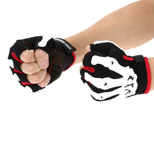 Pro-biker Half Finger Motorcycle Cycling Racing Riding Protective Gloves M L XL K3012R-XL