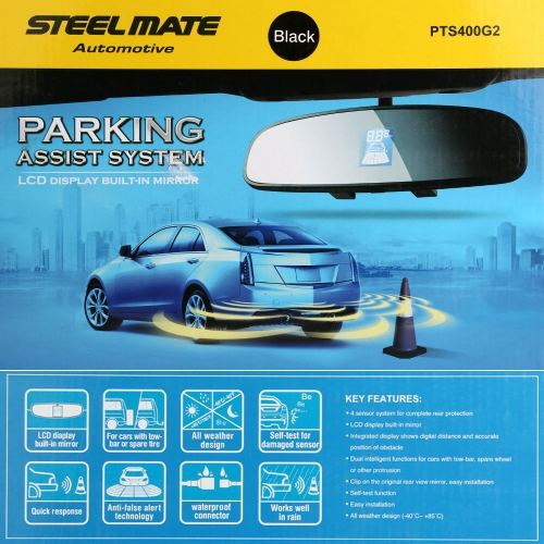 Buy Steelmate PTS400G2 Parking Assist System 4 Sensors Car Sensor Reverse Radar Alert LED Display