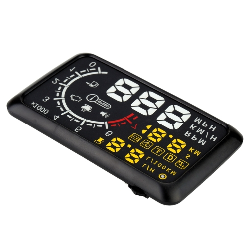 5.5 Inch Car HUD Head Up Display KM/h & MPH Speeding Warning OBDII Interface Windshield Project System with Bluetooth Function to Connect Phone PC от Tomtop.com INT