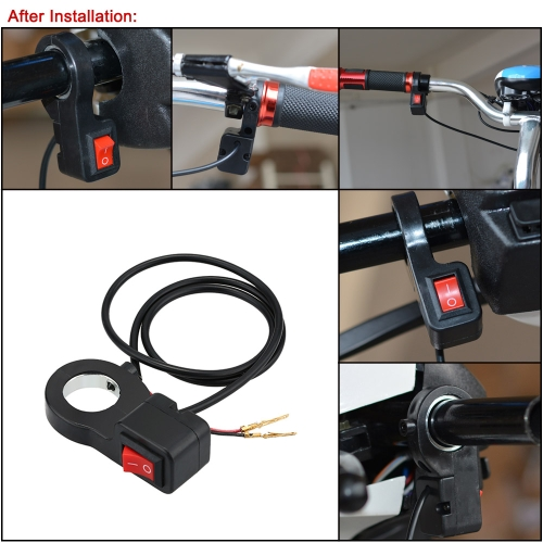 Motorcycle/Scooter/ATV Headlight ON-OFF Switch Universal 2.2cm Diameter Handlebar DIY Button Accessory от tomtop.com INT