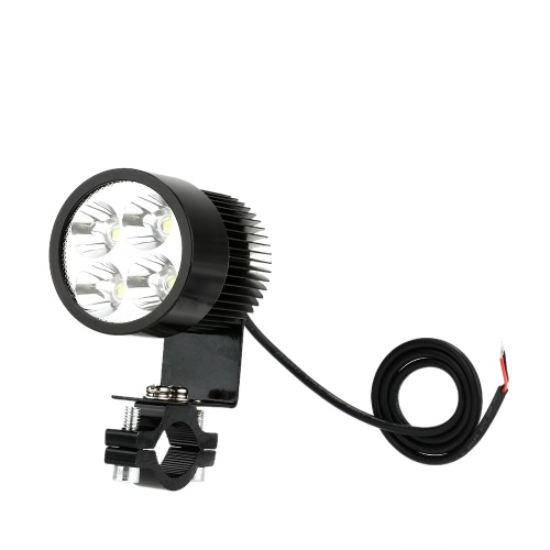 12V-80V 20W Black LED Headlight Lamp Universal for Motorcycle E-bike