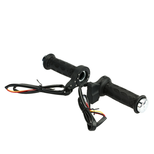One Pair of Motorcycle E-bike 12V Heated Grips Hot/Warm Handlebar with Switch K3230