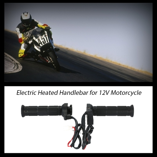 One Pair of 12V Motorcycle Heated Grips Hot/Warm Handlebar with Switch K3234