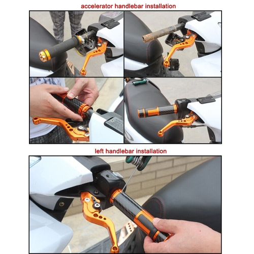 One Pair of Motorcycle DIY Aluminum Handlebar Grips от Tomtop.com INT