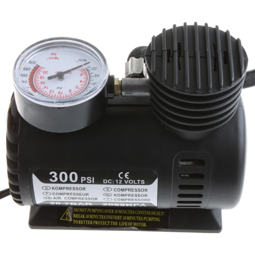 Portable Car/Auto 12V Electric Air Compressor/Tire Inflator 300PSIAir Tools<br>Portable Car/Auto 12V Electric Air Compressor/Tire Inflator 300PSI<br><br>Blade Length: 16.5cm