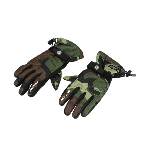 Scoyco Camouflage Color Waterproof Windproof Keep Warm Gloves Breathable Full Finger Motorcycle Cycling Racing Riding Skiing Protective Glove K3393DGR-L