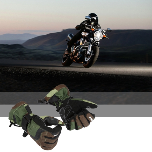 Scoyco Camouflage Color Waterproof Windproof Keep Warm Gloves Breathable Full Finger Motorcycle Cycling Racing Riding Skiing Protective Glove от Tomtop.com INT