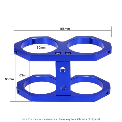 60mm Double Twin Fuel Pump Mounting Bracket Clamp Cradle In-line for Bosch 044 от Tomtop.com INT
