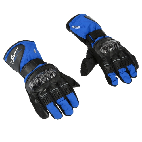 Pro-biker Breathable Full Finger Motorcycle Cycling Racing Riding Skiing Protective Gloves Built-in Lining Water Resistant Windproof Keep Warm Glove K3392BL-M