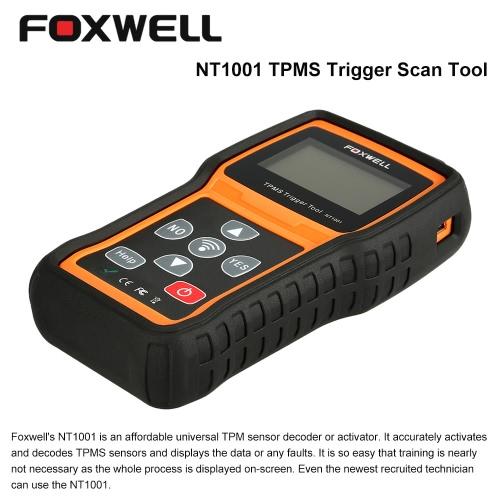 Buy FOXWELL NT1001 OBD Car Diagnostic Scan Tool TPMS Tire Pressure Monitoring Trigger TPM Sensor Decoder