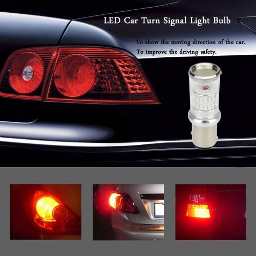 2 X 1157 3014-48SMD Car LED Bulb Rear Brake Backup Turn Signal Light Lamp Replacement Red Amber 570LM от Tomtop.com INT